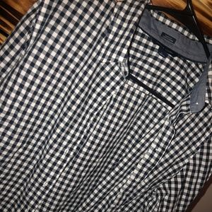Tommy Hilfiger Tops - Tommy Hilfiger Blue and White Checkered Flannel